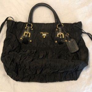 Authentic Prada nylon tessuto gaufre bag black